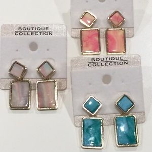 Jewelry - NEW Marbleized Earrings