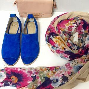 Shellys London blue suede shoes