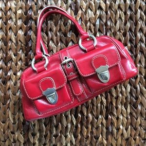 Hype small red satchel bag.