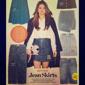 Jean Skirts are Back
