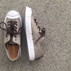 Converse Shoes - Leather and cork Jack Purcell sneakers