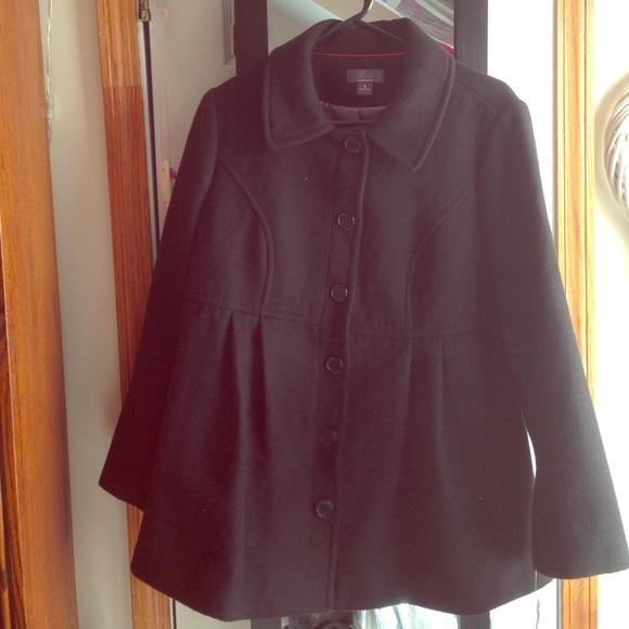 2e83c59f398b8 Motherhood Maternity Jackets & Coats | Large Black Maternity Pea ...