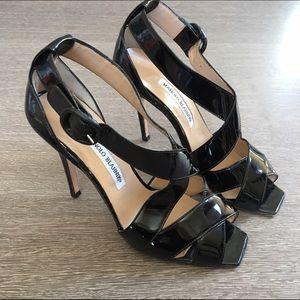Manolo Blahnik black patent leather size 8 1/2