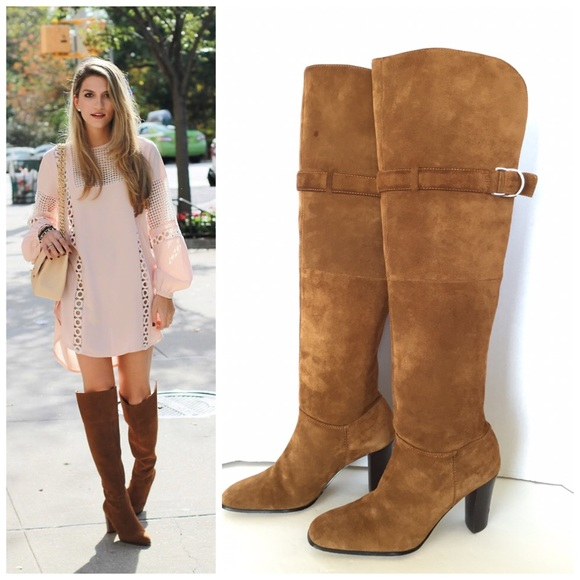 283711cc321 NATURALIZER Suede Over the Knee Boots 7.5. M 571108c468027827f101564d