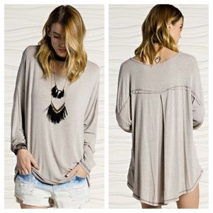 Long sleeve tunic - taupe