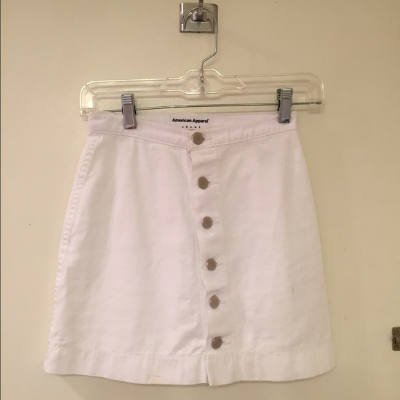 35 american apparel dresses skirts button front
