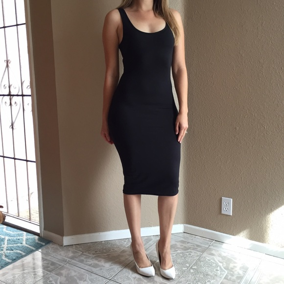 51% off Dresses & Skirts - •LAST ONE• Black Tank Midi Dress from ...