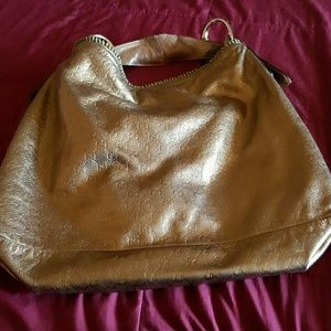 Authentic Gucci gold large hobo bag