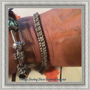 Vintage Sterling silver Diamond bracelet Reduce