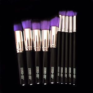Other - 10 Professional Makeup Brushes Purple
