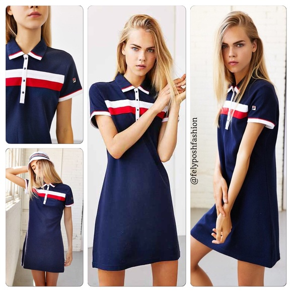 b6002f0aa2b Urban Outfitters X Fila Polo Dress 🇺🇸