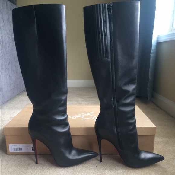 Christian Louboutin Shoes Tournoi Leather Boots Size 41