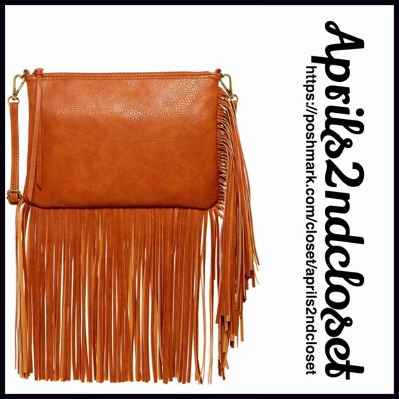 Carlos Santana Handbags - Fringe Crossbody Clutch Vegan Lesther