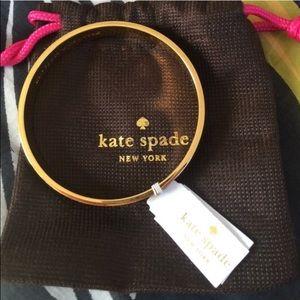 Kate Spade Black Idiom Bangle