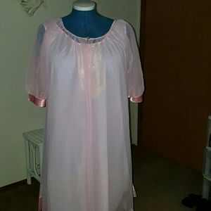 Vintage 60's pink nighty with wrobe