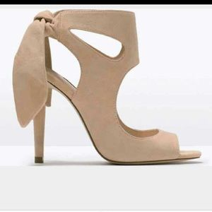 Zara tan heel sandals