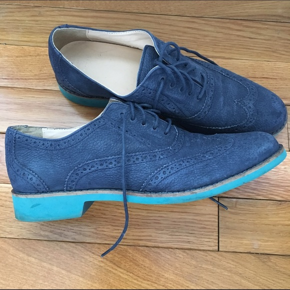 Cole Haan Oxford Blue Leather Shoes