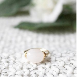 LucyMint Jewelry - Pink Quartz Wire Wrapped Ring