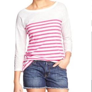 Old Navy Women's Striped Boatneck Top