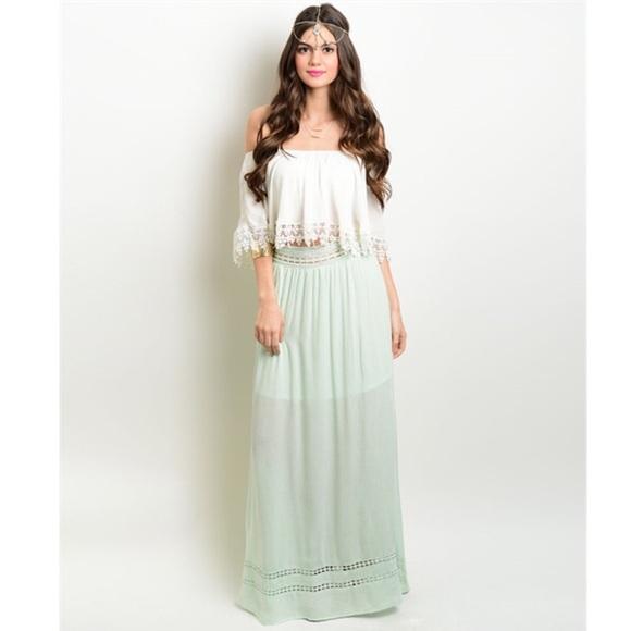 46% off Dresses &amp Skirts - Sage Long Boho Maxi Skirt from ...