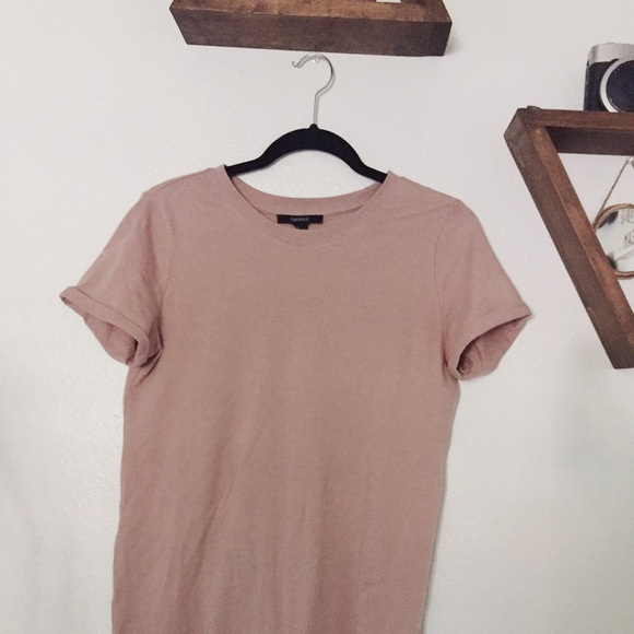 Forever 21 - Blush pink cotton t shirt dress from Gabby's closet ...