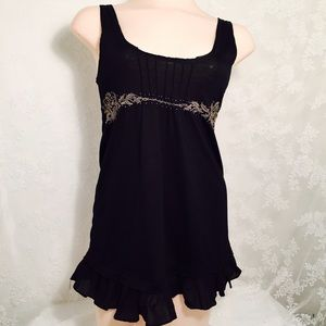 Black tank top with flare.FINAL CLEARANCE