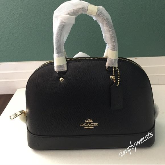 46% off Coach Handbags - NWT Coach Black Mini Sierra Satchel from ...