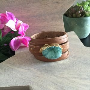 Crystal Waters Turquoise Druzy Cuff