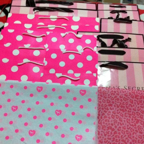 Victoria's Secret - NEW VS PINK SHOPPING PAPER BAG 16 bags, 32 ...