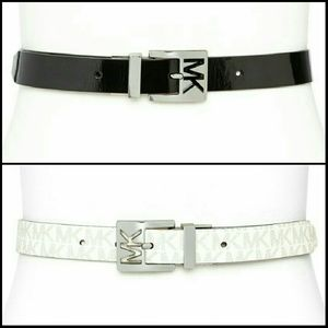 MICHAEL Michael Kors Accessories - 4 for $80/Michael Kors Reversible Patent/Logo Belt