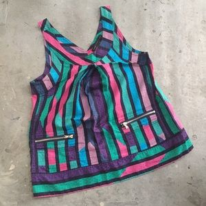 Marc by Marc Jacobs Multi Color Stripe Tank