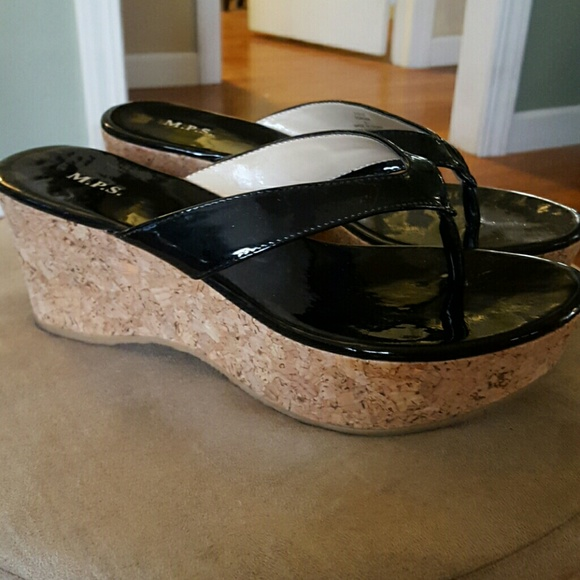 Thong Black sShoesSandals Poshmark Sole Cork With M p Wedges N0nwOP8kX