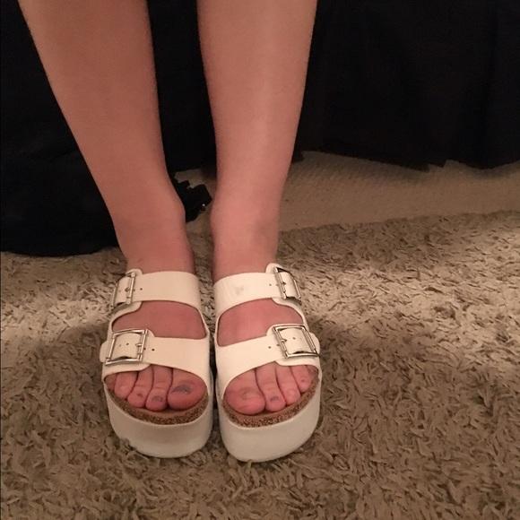 Platform Birkenstock Style Sandals