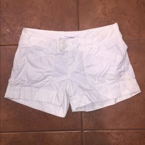 Express white shorts size 2