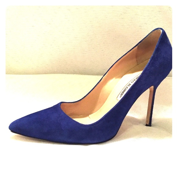 Manolo Blahnik Cobalt Blue Suede Bb