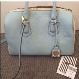 henri bendel Handbags - Baby blue & cream Henri bendel bag 💖