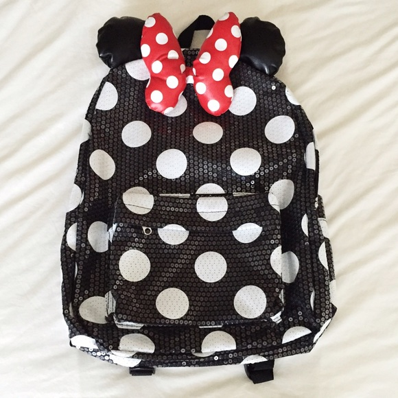 Disney Bags Authentic Land Minnie Mouse Sequin Backpack