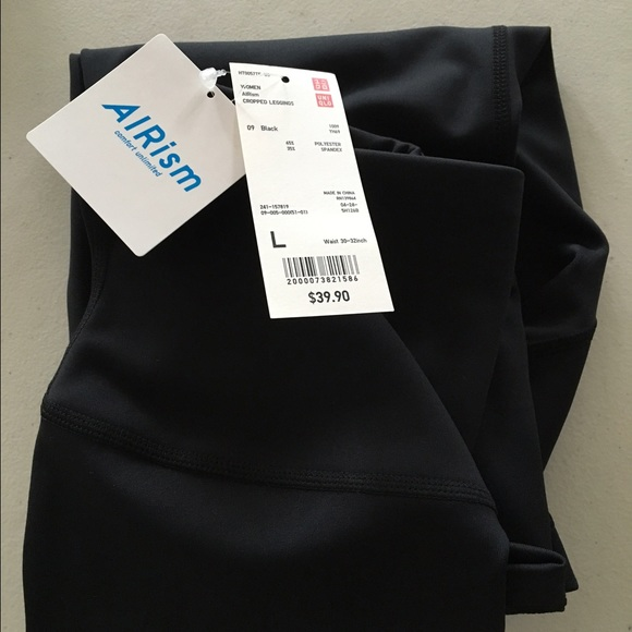 f3aabf6fe0b09 UNIQLO Pants | New Black Airism Cropped With Tags | Poshmark