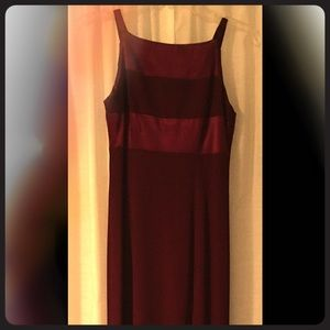 Long elegant burgundy dress