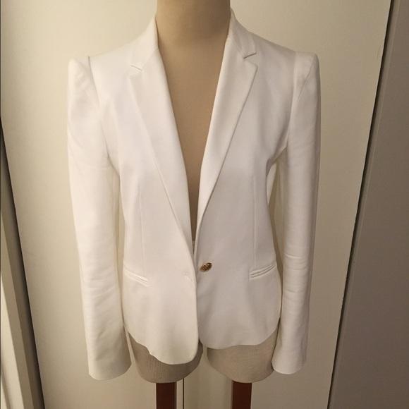 0ba7e65a Zara Jackets & Coats | Basic White Blazer | Poshmark