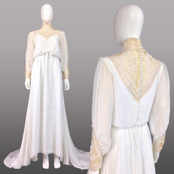 🚫SOLD🚫VINTAGE WEDDING DRESS 70s Wedding Dress HI