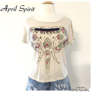 April Spirit Tops - 🆕 APRIL SPIRIT elephant crop top