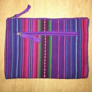 Bensimon Handbags - Brand new striped canvas purse/make up bag/pouch.