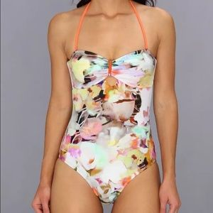 Ted Baker Swim - TED BAKER ivory floral One-Piece Swimsuit sz 4/L