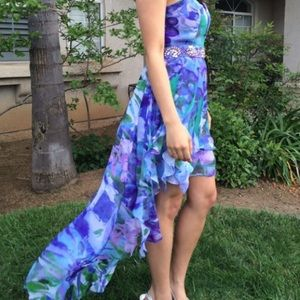 Colorful Floral Prom Dress
