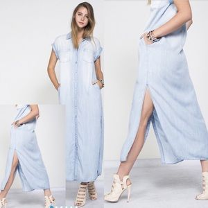 Dresses & Skirts - Light Washed Denim Dress