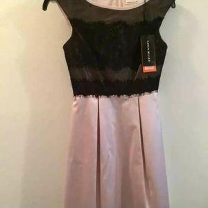 Karen Millen Dresses & Skirts - Karen Millen pink black lace dress sz 2 new short