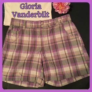 Gloria Vanderbilt Pants - Gloria Vanderbilt Purple Plaid Shorts