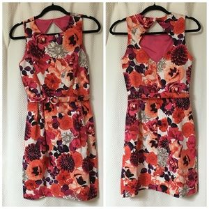 Eliza J fitted floral dress, worn once, size 8