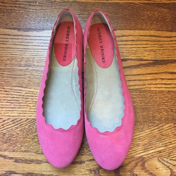 Pink scallop ballet flats. Audrey Brooke Winny.